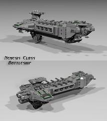 Nemesis Class Battleship (CK-MCMLXXXI) Tags: lego spaceship battleship warhammer starwars 40k 40000 stardestroyer moc digital ldd