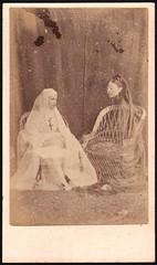 Spirit ladies (kevin63) Tags: lightner photo victorian edwardian antique spooky spirit scary women girl nun saint spiritguide chairs seated transparent doubleexposure