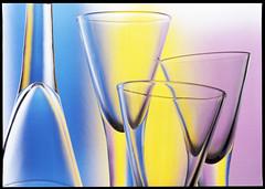 Stemware (of the Glass series) (sergeyvaraksin) Tags: stilllife glass bottle jars studio art colour abstract concept analog film mamiya mamiya645 645