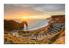 December Durdle (Chris Jones www.chrisjonesphotographer.uk) Tags: durdle door dorset south west england uk chris jones photorapher sea ocean sky sun sunset seascape arch limestone lulworth jurassic coast coastline steps wwwchrisjonesphotographeruk h