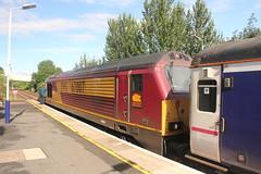 67007 Falkirk Grahamston, Scotland (Paul Emma) Tags: uk railroad train scotland railway sleeper falkirk caledoniansleeper dieseltrain class67 67007 falkirkgrahamston