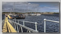 The New Marina at Lochboisdale (Bill McKenzie / bmphoto) Tags: sailboat marina project boats scotland yacht scottish best regeneration southuist scotlland lochboisdale eileansiar scottishviewpoint