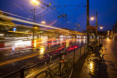 Trolley Town (JBStenger) Tags: bus rain night arnhem trolleybus willemseplein