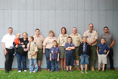 Cub Scout Pack 96 after Memorial Service at Cemetery
