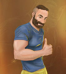Alright (Shmoonify) Tags: bear man men muscles illustration painting sketch drawing muscular digitalart sketching beards hunk dude digitalpainting buff scruffy scruff alright beardedmen digitaldrawing digitalillustration beardedguys