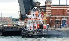 Thames Vixen (2) @ KGV Lock 04-09-15 (AJBC_1) Tags: uk england london boat ship unitedkingdom vessel docklands tugboat tug eastlondon nikond3200 northwoolwich newham basculebridge royaldocks londonboroughofnewham kgvlock dlrblog londonsroyaldocks livettsgroup ajc thamesvixen kinggeorgevlock