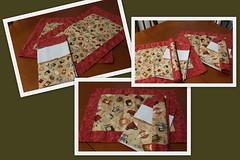 Jogo Americano (ceciliamezzomo) Tags: red kitchen coffee caf de place dish handmade pano towel vermelho mat kit patchwork jogo prato cozinha polkadot americano po