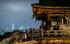 Kiyomizu-dera (xavier.snyders) Tags: tower japan night cherry nikon kyoto blossom mm f18 50 kiyomizu dera d3200