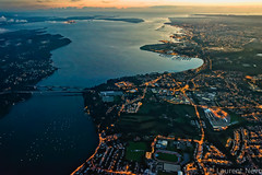 _D812154_La Rade de Brest (Brestitude) Tags: city bridge night port harbor brittany bretagne aerial breizh brest pont nuit ville finistere aérien rade iroise lerelecqkerhuon brestitude ©laurentnevo