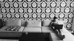 2015-09-22 08.26.49 1 (rostislavdidenko) Tags: wallpaper bw white black glass girl monochrome table grey russia top samsung lap sofa galaxy blanket greyscale rostov s6