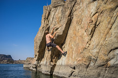 No more holds! (kinkbmxco) Tags: climbing bankslake deepwatersoloing