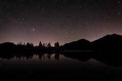 Sprague Lake at Night (Patrick.Russell) Tags: longexposure lake reflection nature water night stars landscape outdoors nikon colorado outdoor co rockymountain serene rmnp frontrange tranquil sprague d300