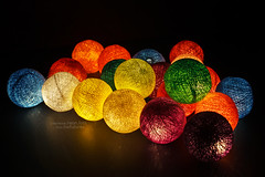 color ball light (bw.futures) Tags: wedding light color colour art blackbackground night ball catchycolors kid bedroom colorful neon colours bright room indoor vietnam collection cotton hanging lantern colourful saigon thecolor colourartaward bwfutures cottonlight neonfoto