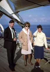 Peter Bury, Julie Ireland, Dorothy Coulthard, 1964 (D70) Tags: ireland dorothy mar bury julie 5 ss slide passengers peter frame half scanned po kodachrome 1964 coulthard orcades
