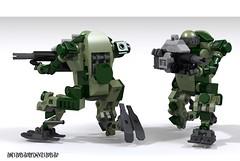 "Support hardsuit GHY-14M ""Lissabon-M"" (_bidlopavidlo_) Tags: army robot war ray lego pov mecha droid mech ldd hardsuit"
