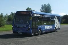 First SN64 CKY - 47617 (S925 AKS) Tags: road bus wheel first craig express wright bluebird lime midland psv falkirk sibbald wrightbus tamfourhill streetlite 47617 sn64cky