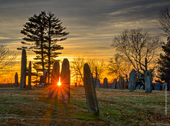 cemetery sunset (mgstanton) Tags: sunset fall cemetery graveyard wayland allsoulsday