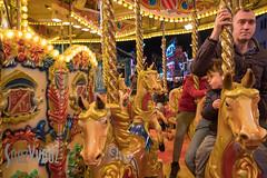 On the Carousel (Sue_Hutton) Tags: carousel loughborough loughboroughfair november2016 autumn lights rides stalls