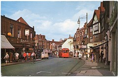 Beckenham postcard, 1960s (The Wright Archive) Tags: high street beckenham postcard vintage south london uk 1963 1960s 60s sixties old red bus
