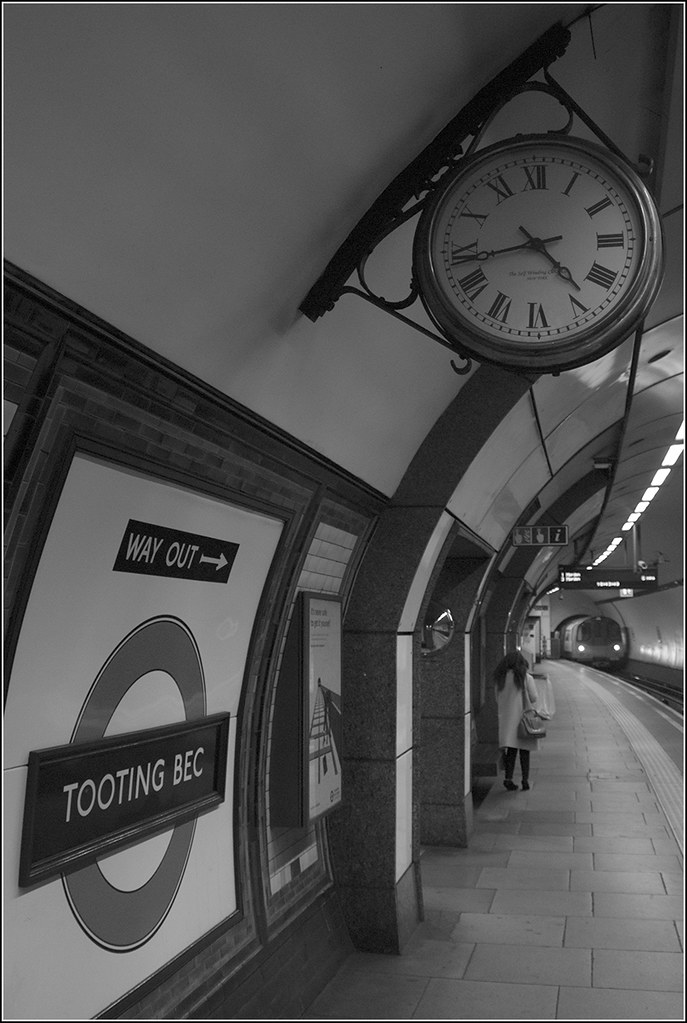 Image result for black and white photography under a platform clock