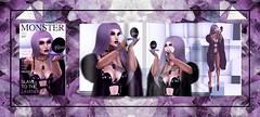 Vanity Violet . (Venus Germanotta) Tags: fashion pose magazine hair fur model crystals purple fierce lavender makeup secondlife latex weave aesthetic