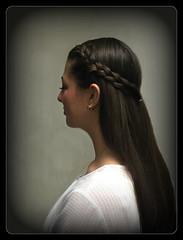 A Portrait of Chelsea with Her Quick Braided Hairstyle (buddhadog) Tags: braids hairstyle 1000 sweeper femaleportrait challengeyouwinner friendlychallenges 6wins g2haiku mm108 1000vu 100vu 500vu 2sweepers