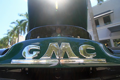 GMC in the sun (taddzilla) Tags: green truck logo automobile florida letters pickuptruck hollywood gmc carshow allrightsreserved sunflare 2015