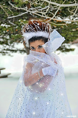 Warm Sparkle Inside (All About Light!) Tags: snow fashion sparkles glamour whitedress snowprincess bluelipstick arthurkochphotography