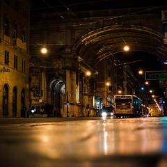 Genova la merveilleuse (Fabrice Le Coq) Tags: street lumière transport route sombre rue nuit ville batiment fabricelecoq