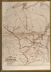 Map, Portage and Its Projected Railroads