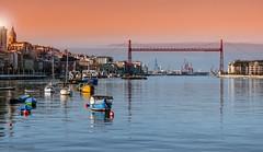 Puente Colgante - Ra del Nervin (Jose Castanedo) Tags: europa euskadi getxo portugalete puente puentecolgante puentedevizcaya sestao vizcaya barcas exterior horizontal paisaje es espaa bilbao radebilbao pasvasco