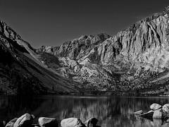 Convict Lake in Monochrome (Thomas Dwyer) Tags: importedkeywordtags mammotharea scenicsnotjustlandscapes convictlake easternsierranevada mountains landscape lake thomasdwyer kodak