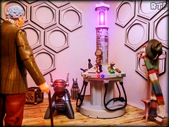 Time to Move on. (Rooners Toy Photography) Tags: doctorwho who bbc thecurator 4thdoctor tombaker tardis scifi sciencefiction toys figures characteroptions undergallery rooners rtpinstagram k9