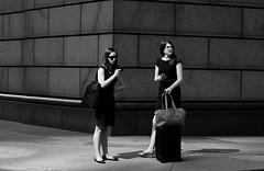 Sales Meeting (burnt dirt) Tags: houston texas downtown mainstreet blackdress