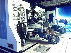 Hangar Test Shot (icycruel) Tags: lego moc space hangar bay gunship dio outpost charlie sci fi