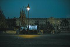 Paris by night (Photo-LB) Tags: paris france parisbynight villelumière streetphoto journaux europe nikon nikon58afs cityoflights quaideseine nuit night light pont 18 extérieur urban urbain vélo