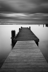 Untitled (miguel_lorente) Tags: blacknwhite longexposure netherlands sunset pier bnw bw seascape city blackandwhite holland marken