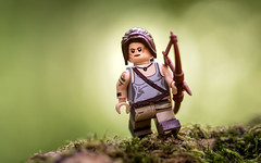 The Hunter (Reiterlied) Tags: 105mm brickultra d5200 dslr forest lego laracroft legography lens macro minifig minifigure nikon photography prime reiterlied sigma stuckinplastic tombraider toy