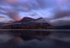 Lugano (Simone R) Tags: lugano sunset lake ceresio nd ndfilter longexposure red water waterscape long exposure montebre ticino switzerland swiss schweiz reflection riflesso evening sera tramonto clounds mood olympus haida light em5 colors beautyofwater filter mountains monte montagna boglia monteboglia sky