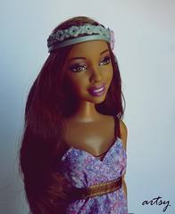 Artsy Fashionista (Sara.C~) Tags: barbie sporty summer teresa sassy artsy nikki fashionistas fashionista aa afro american afroamerican collector label pink gold black doll dolls carolina herrera