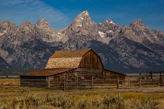 Mormon barn- Tetons (Garry Rollins) Tags: mormonrow oldbarn grandtetonnationalpark wyoming gtnp landscape mountains
