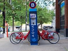Sponsored Red Bike Station (Travis Estell) Tags: bcycle bikeshare bikesharing cbd centralbusinessdistrict cincinnati cincyredbike downtown downtowncincinnati ohio redbike