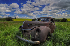 Rusty Merc (Len Langevin) Tags: abandoned old car vehicle rusty rusted rustbucket mercury sedan alberta canada nikon d300s tokina 1116