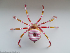 Beaded Spiders by Holly Greene (Out of the Ordinary Photography) Tags: beaded christmas decor ornament tree holiday celebrate holidays bead beads handmade unique etsy legend german germany decoration winter hobby doughnut donut jelly bake snack food