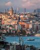 Galata Tower (Martijn Bergsma) Tags: sea boat turkey ferry galata kulesi goldenhorn galatatower galatakulesi buyukvalidehan istanbul bosphorus eminonu karakoy christea turris