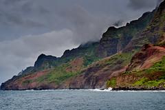 Na Pali Coast of Kauai (AgarwalArun) Tags: sonya7m2 sonyilce7m2 hawaii kauai island landscape scenic nature views mountain fog clouds storm weather napalicoast pacificocean ocean water waves surf napali ruggedcoastline cliffs