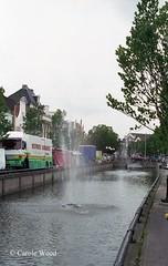 Sneek - Kanaal met waterstraalen (Fontaines de Rome) Tags: nederland paysbas sneek kanaal waterstraal canal jetdeau