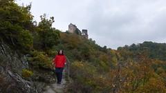 Blick vom Felsenweg zur Schönburg