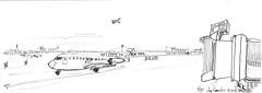 NYC, LaGuardia airport (Croctoo) Tags: croctoo croquis croctoofr crayon avion aeroport nyc newyork n