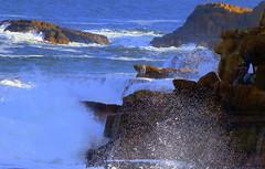 Keen  ROCK FISHERMEN (Lani Elliott) Tags: fish fishermen rock rocks rockfishermen water waves surf rough sea ocean outdoor blue extremesport wow brilliant